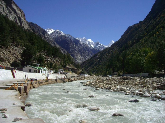 Gushing streams of the Gangotri in North India