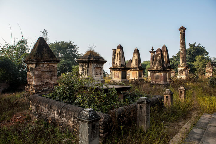 Abandoned British graveyard at Chunar
