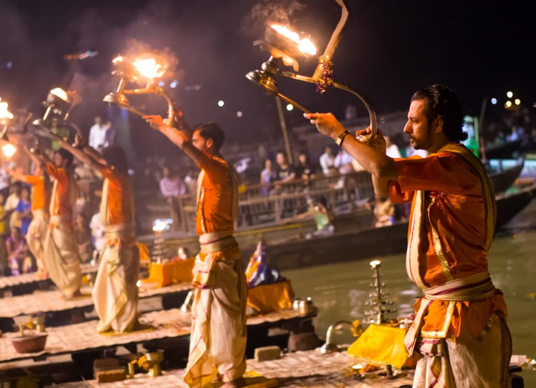 Ganga Aarti at Dashashwamedh Ghat in Varanasi