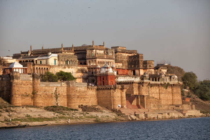 Ramnagar Fort in Varanasi as seen from outside