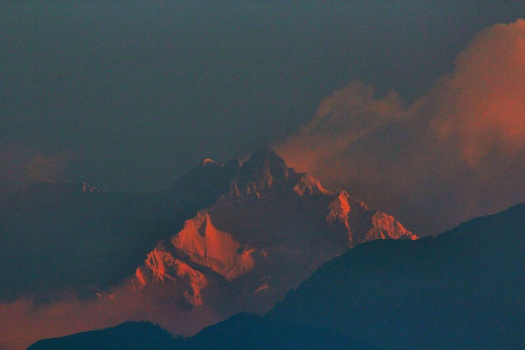 View of Mount Kanchenjunga