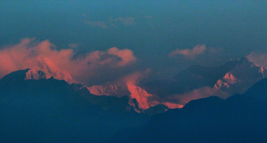 View of Mount Kanchenjunga.