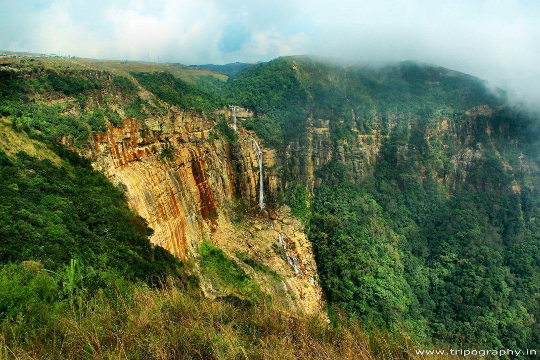 A deep gorge in Cherrapunji, Meghalaya