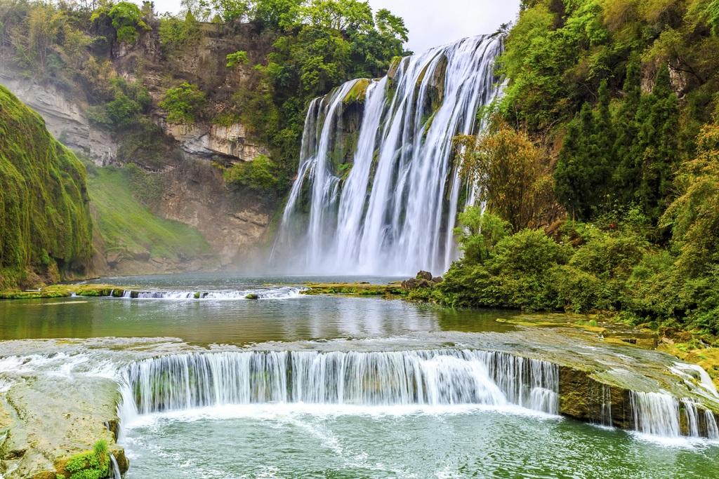 Huangguoshu falls, famous Waterfalls in Guizhou, China