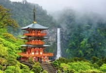 Nachi, Seiganto-ji Pagoda and Nachi no Taki waterfall.