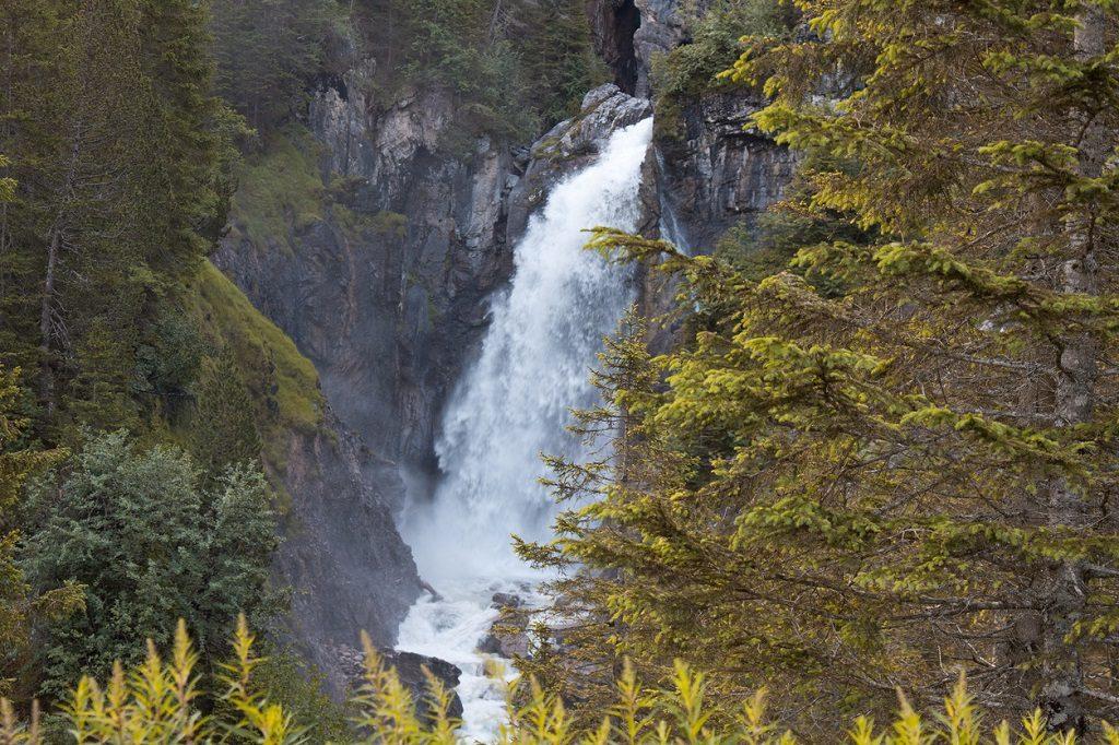 Reichenbach falls. Switzerland landmark landscape