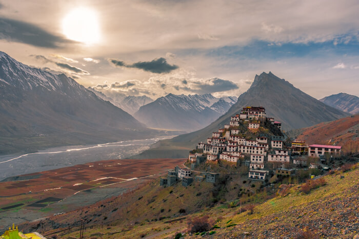 View of Key Monastery, Spiti, Himachal Pradesh