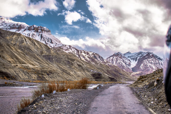 Pin Valley surrounded by mountains, Spiti, Himachal Pradesh