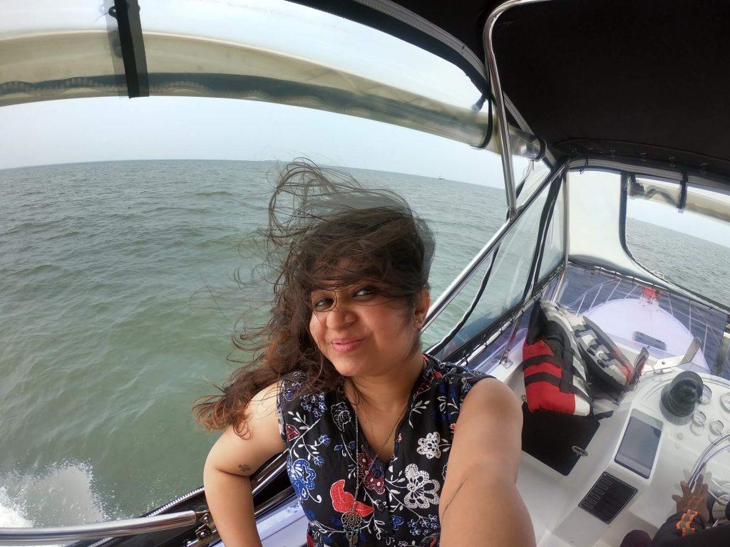 Selfie on a yatch to Pulau Macan Island