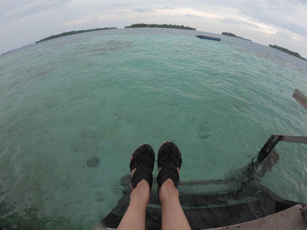 Sea view at the Pulau Macan Island