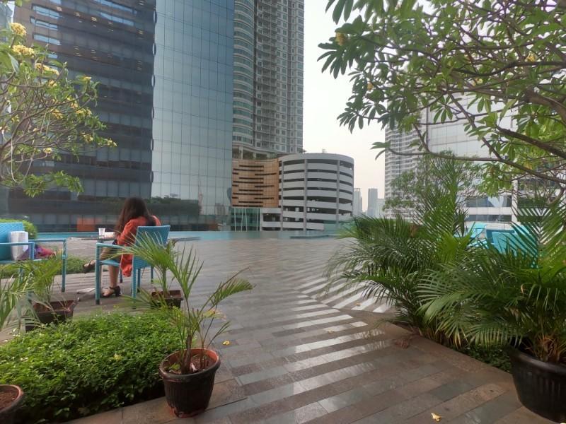 The Manhatten hotel grounds in Jakarta