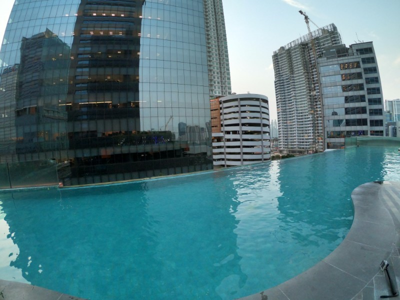 The pool at Manhatten hotel in Jakarta