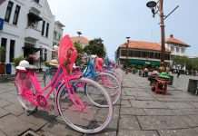 Colourful cycles in Kota Tua, Jakarta's old town