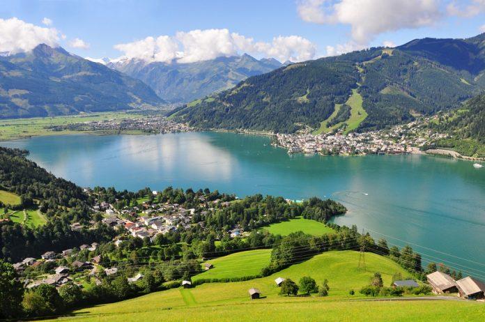 Panorama of Zell am See, Salzburger Land, Salzburg, Austria