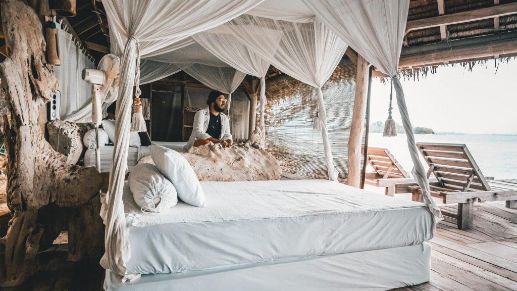 A cabana in Pulau Macan Island, Lakarta