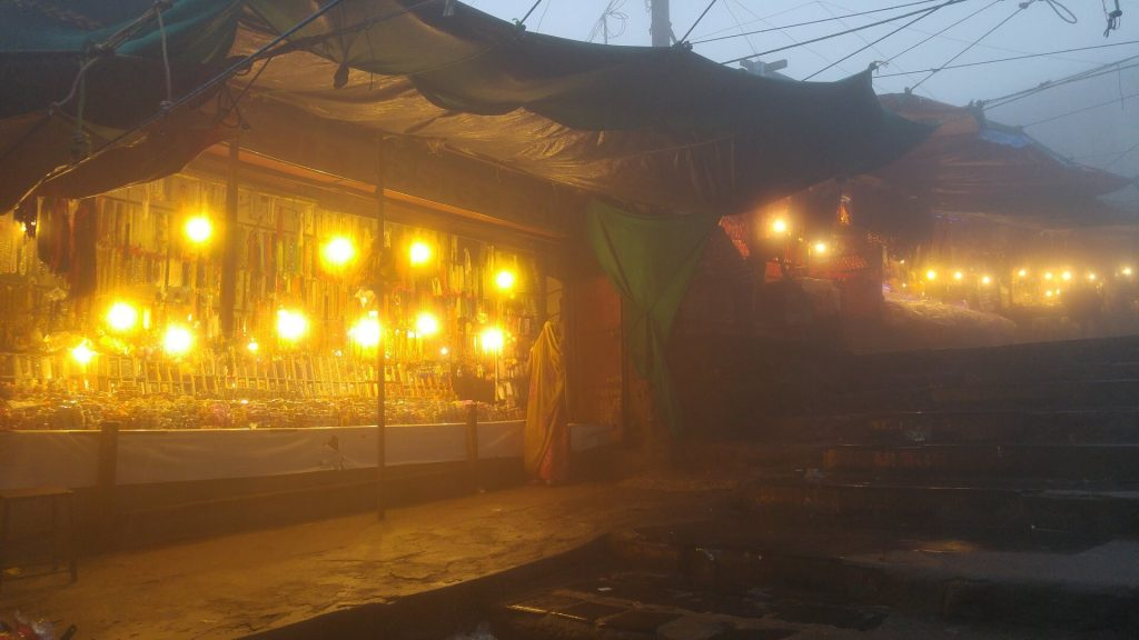 The evening market in Pavagadh Hill