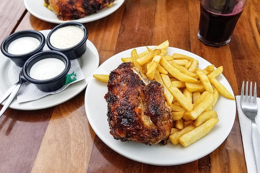 classic peruvian roasted chicken food