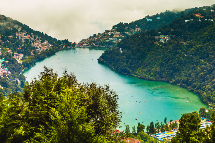 Naini Lake view from above the mountain