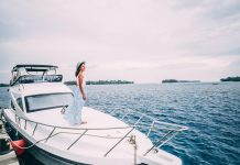 Woman on a yacht, Jakarta, Thousand Islands