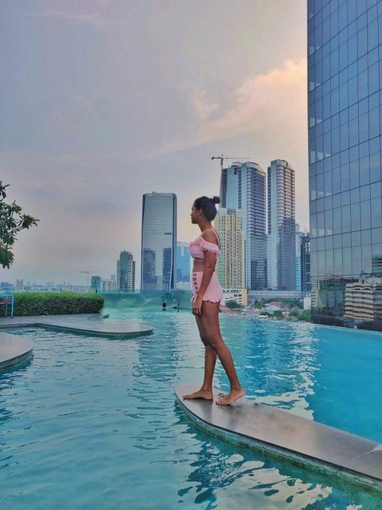Infinity Pool at Manhattan Hotel Jakarta