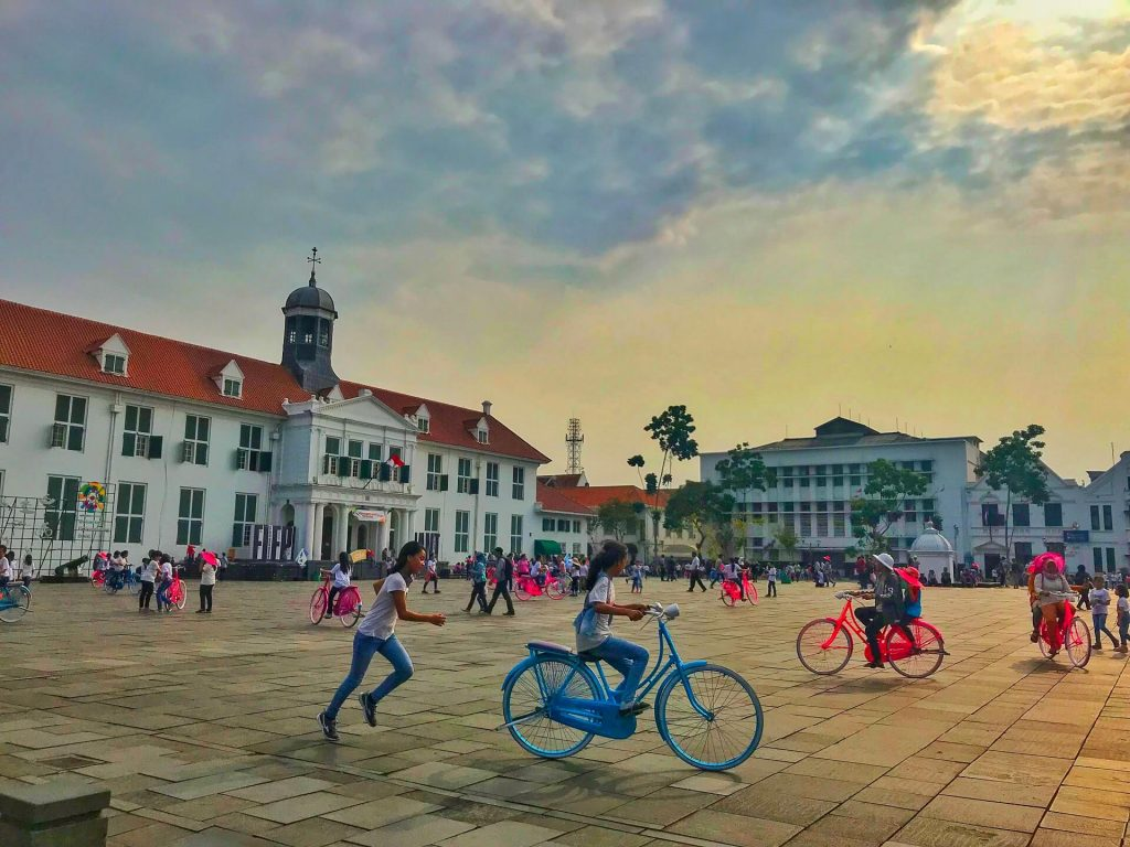 Old historic Dutch buildings in Old town (Kota Tua).