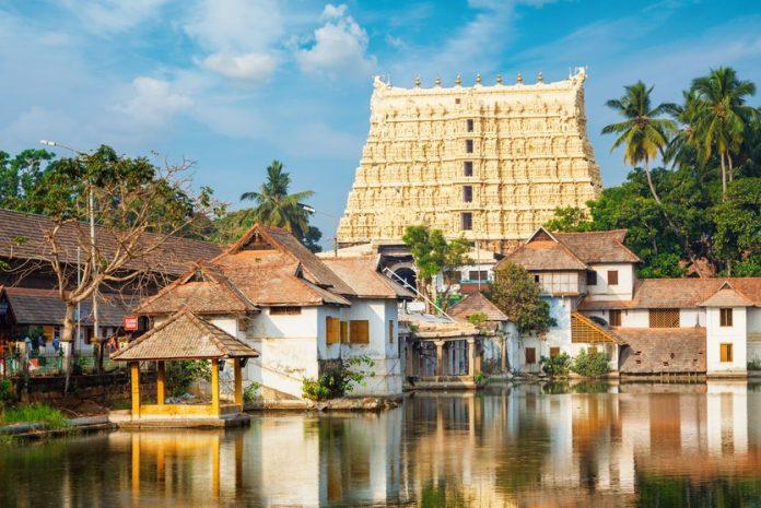 Padmanabhaswamy temple at Thiruvananthapuram, India