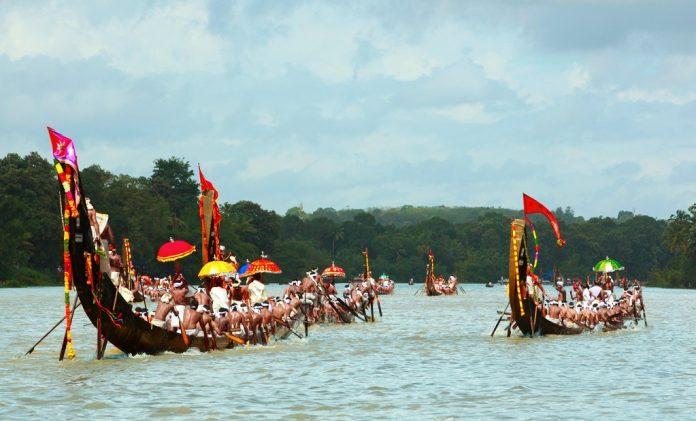 The snake boat race at Aranmula. Visit Kerala