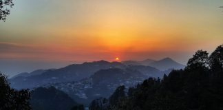 Sunset view from Landour