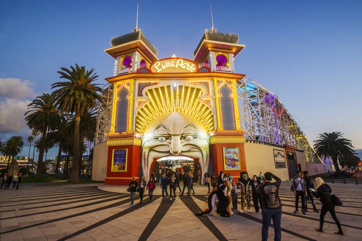 Luna Park, an amusement park in St Kilda.