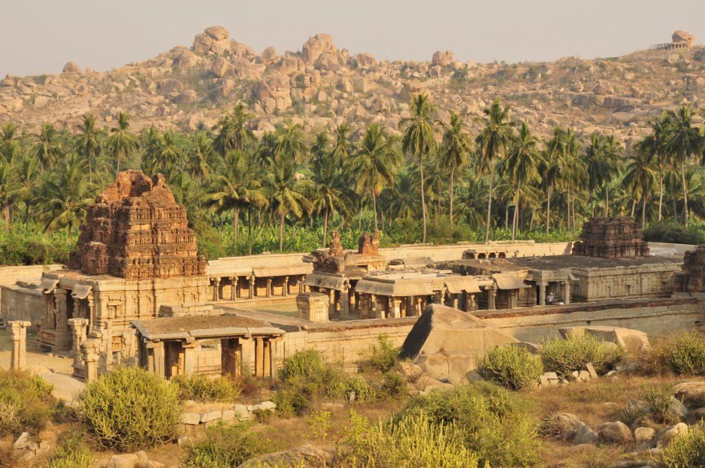 Achyuta Raya Temple, Hampi, Karnataka, India. Solo trip in India