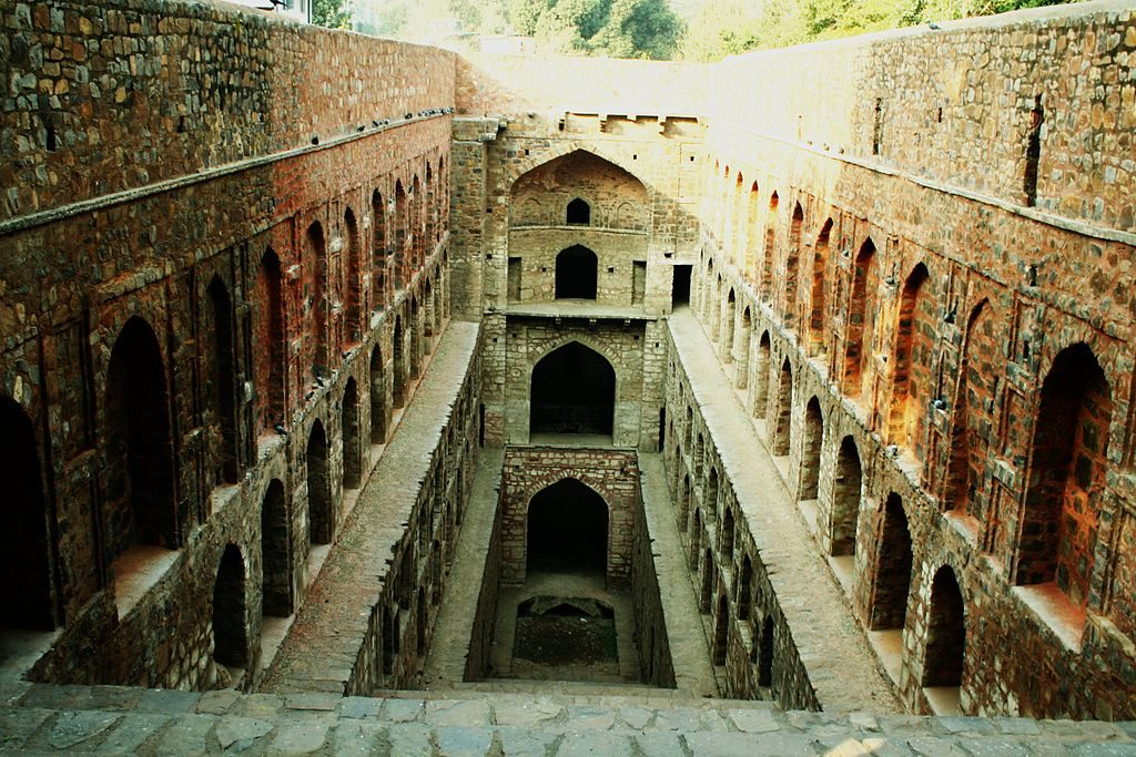 Agrasen ki baoli, a haunted stepwell in India