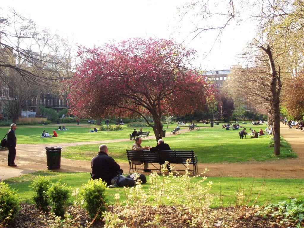 Gordon-Square-Gardens-London Literary destinations