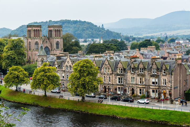 Ardross Terrace waterfront along the River Ness in Inverness