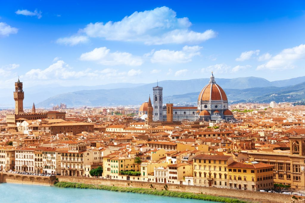 Cityscape panorama of Arno river, towers and cathedrals of Florence - things to see in florence