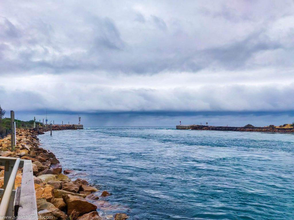 Beautiful view of the sea in Australia