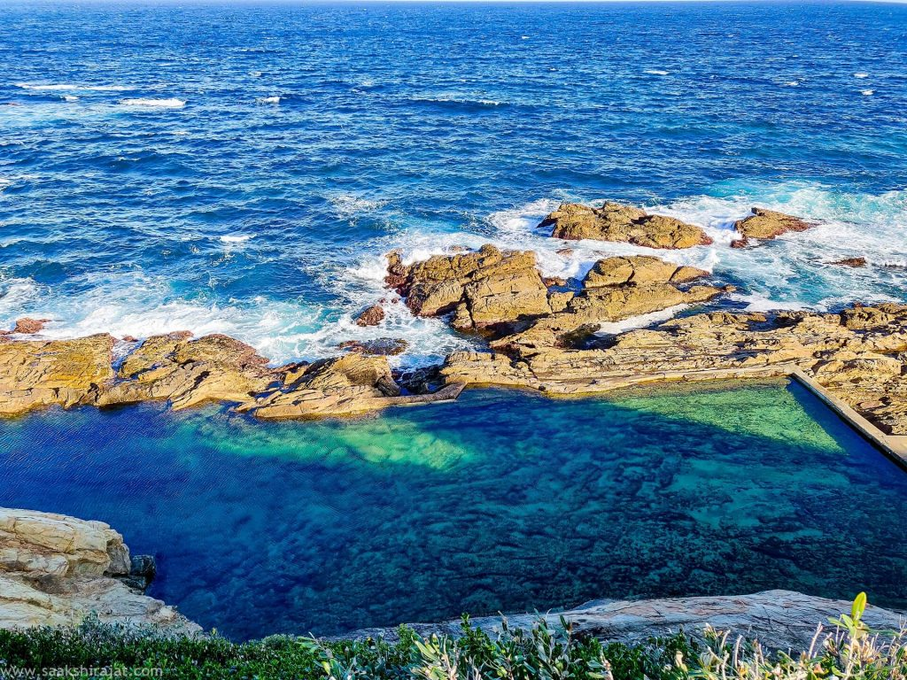 Amazing blue-green colours of the waters in Australia
