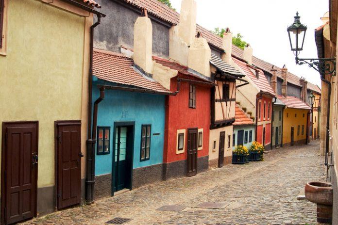 The famous golden street in Prague (inside the Castle)