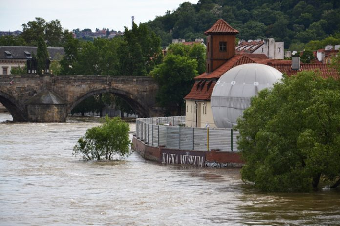 Kafka Museum facec flood in Prague centre. The Czech capital declared a state of emergency as the worst flooding for over a decade tore into the city, threatening its historic heart.
