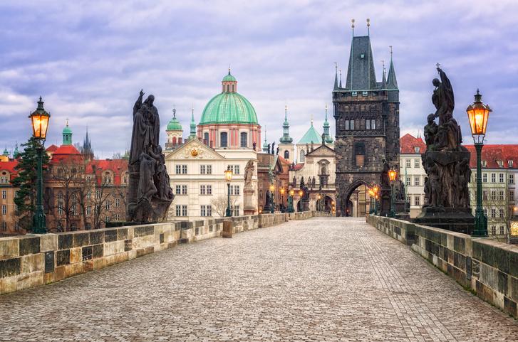 Charles bridge in Prague, Czech republic, Peaceful Countries