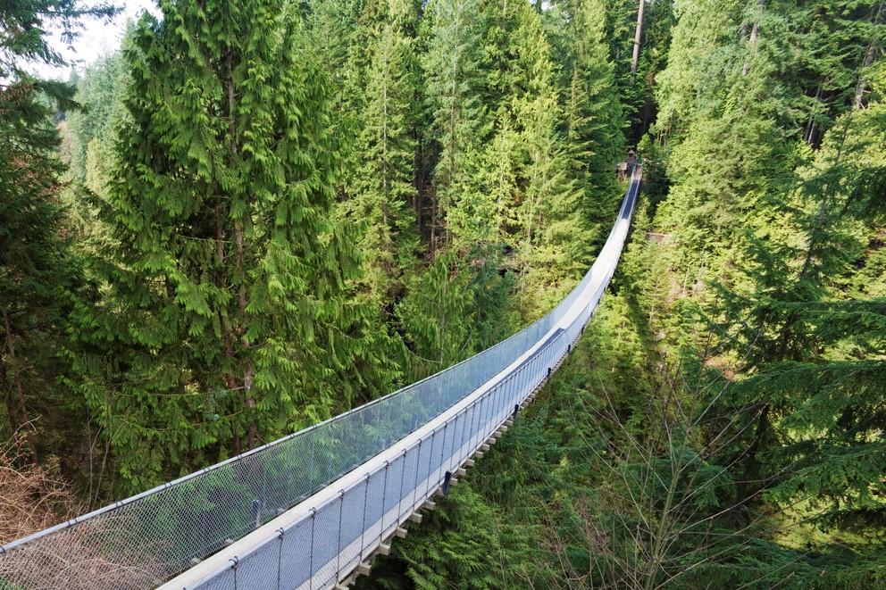 The famous Capilano Suspension Bridge a very popular tourist spot in North Vancouver,BC.