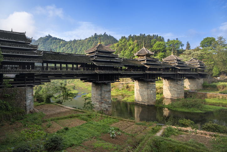Wind and rain bridges are an import tradition of Dong minority people of China.