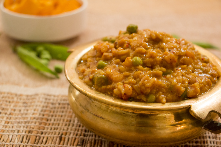 Bisi bele bath is a rice dish in which rice, vegetables and lentil are cooked together and it is also a popular dish from karnataka, India Karnataka foods