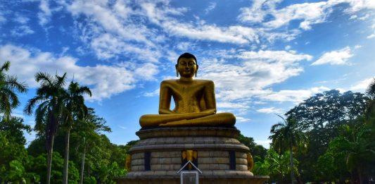 Buddha statue in Viharamahadevi, Sri Lanka