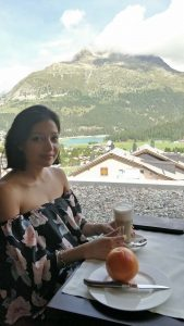 Coffee with a view at St Moritz