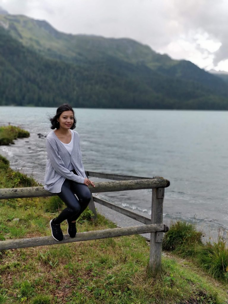 By the lake in St Moritz