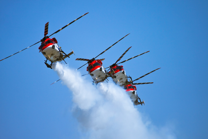 Indian Air force Sarang team at Aero India