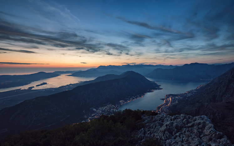 View from above to Kotor and Tivat bay, parts of Boka Bay things to do in Montenegro