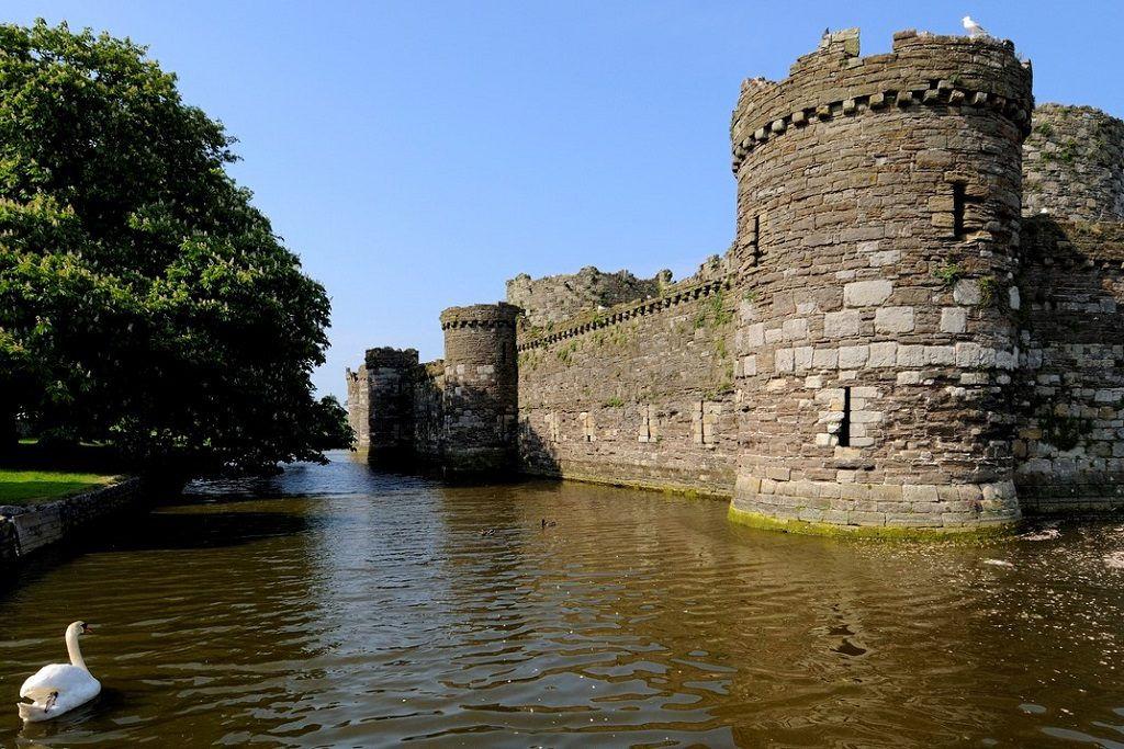Beaumaris Castle was built as part of King Edward I's campaign to conquer North Wales. It was designed by James of St. George and was begun in 1295, but never completed. Beaumaris has been designated as a World Heritage site