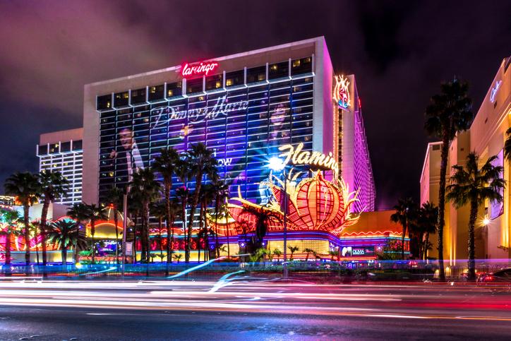 Flamingo Hotel Casino at night
