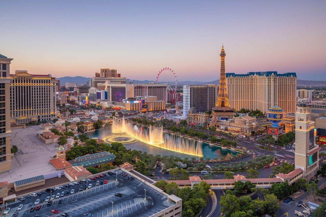 Las Vegas Aerial city view, Las Vegas